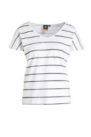 outdoor T-shirt Haapajoki wit/zwart