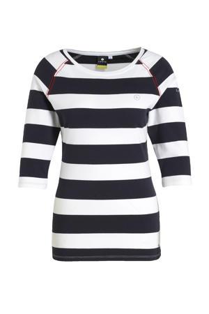 outdoor T-shirt Alhopakka donkerblauw/wit