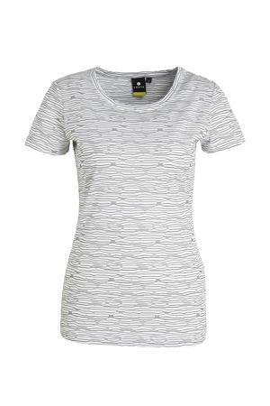 outdoor T-shirt Aakkula wit/zwart