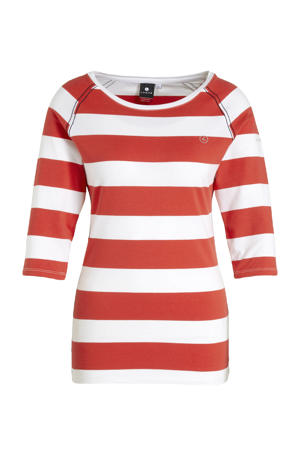 outdoor T-shirt Alhopakka rood/wit
