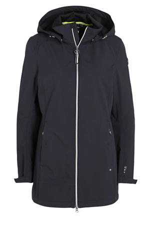 outdoor softshell jack Isola donkerblauw