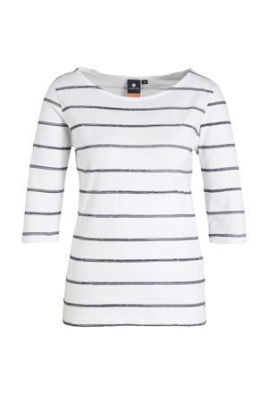 outdoor T-shirt Haapainen wit/zwart