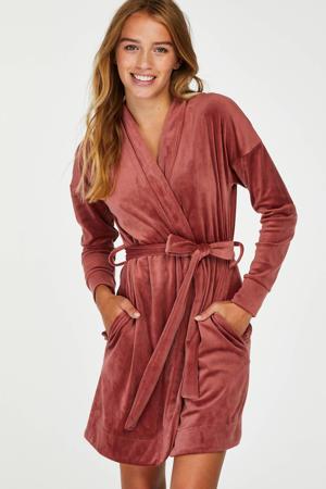 velours badjas oudroze