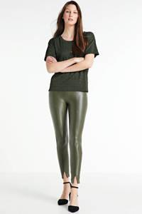 VILA high waist broek groen, Groen