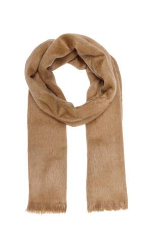 sjaal van imitatiebont camel