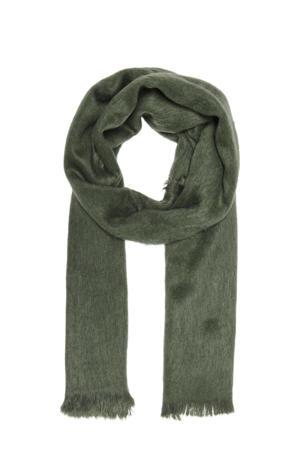 sjaal van imitatiebont groen