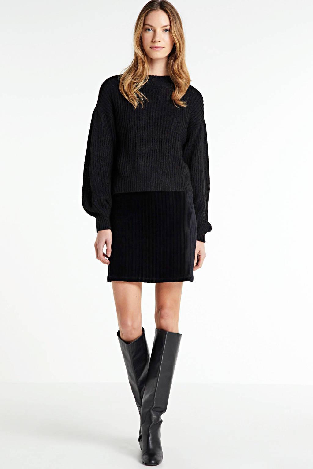 VILA rok zwart, Zwart
