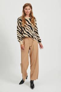 VILA trui met all over print bruin/zwart, Bruin/zwart