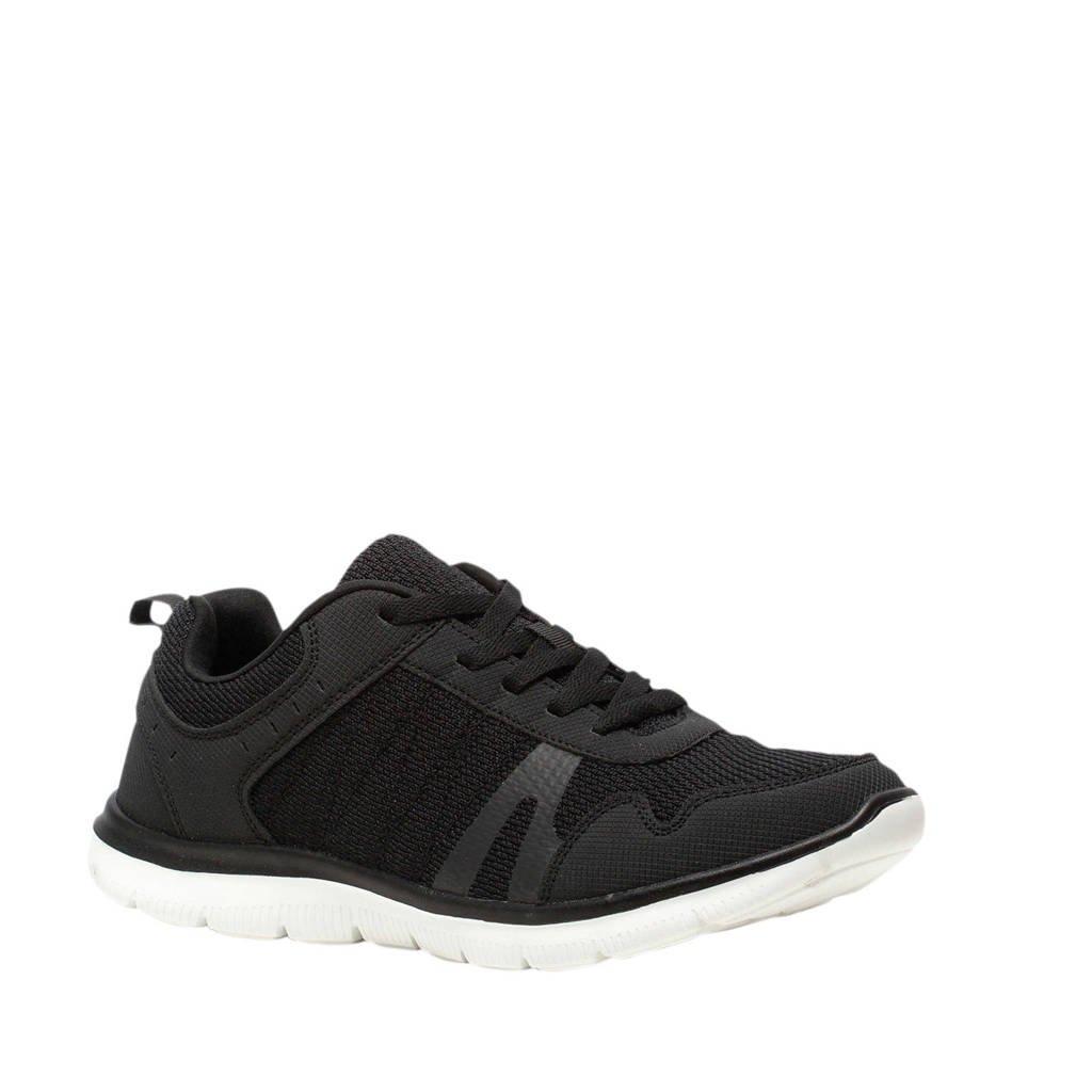 Scapino Osaga   sportschoenen zwart/zilver, Zwart/zilver