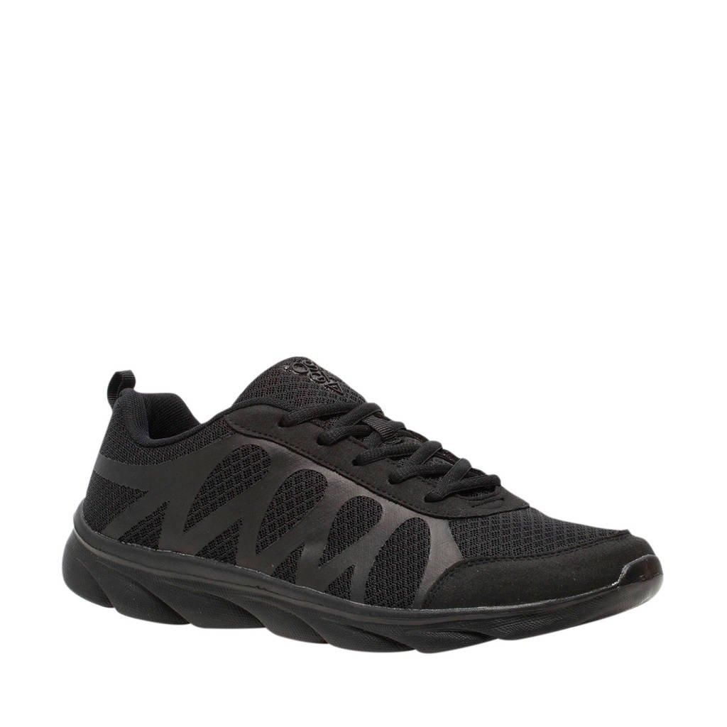 Scapino Osaga   hardloopschoenen zwart, Zwart/Zwart