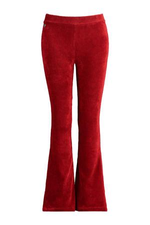 corduroy flared broek Charly rood