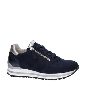 comfort suède sneakers donkerblauw