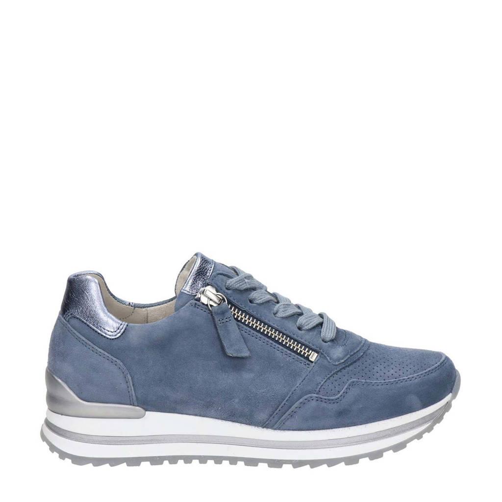 Gabor  comfort suède sneakers lichtblauw, Lichtblauw