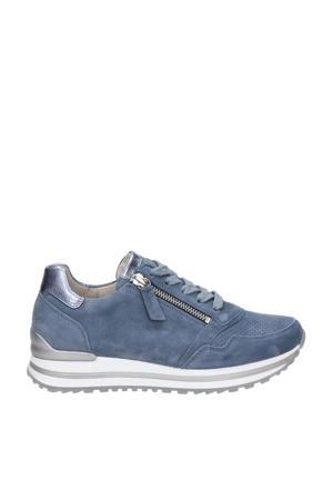 comfort suède sneakers lichtblauw