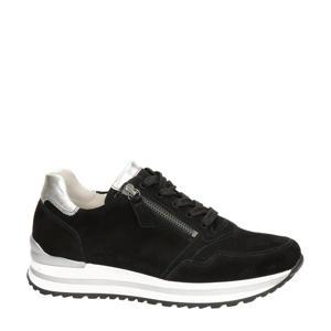 comfort suède sneakers zwart