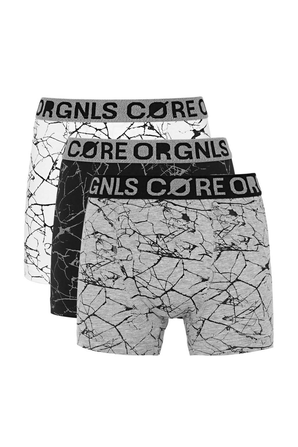 C&A Here & There   boxershort - set van 3 grijs, Lichtgrijs/donkergrijs