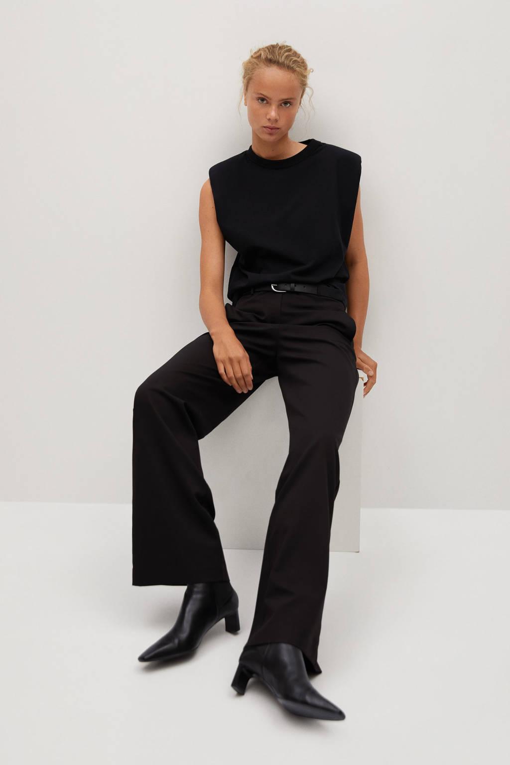 Mango slim fit pantalon zwart, Zwart