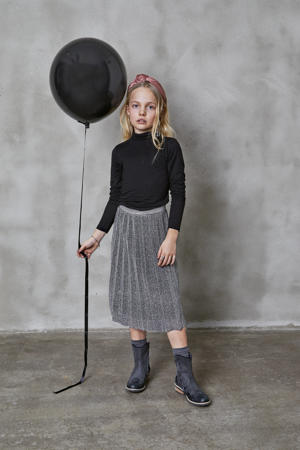 rok Danielle met glitters zwart/zilver