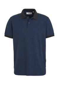 PRODUKT regular fit polo met all over print donkerblauw, Donkerblauw