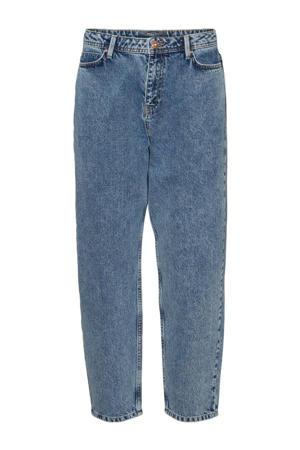 high waist tapered fit jeans NMJUNE medium blue denim