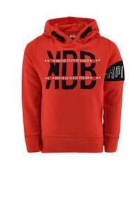 KIDDO hoodie Rinus met tekst rood, Rood