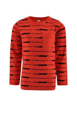 longsleeve Trevor met all over print rood/zwart
