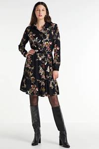 PIECES blousejurk met all over print zwart/bruin/groen, Zwart/bruin/groen