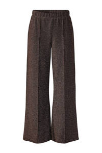 PIECES straight fit broek donkerrood, Donkerrood