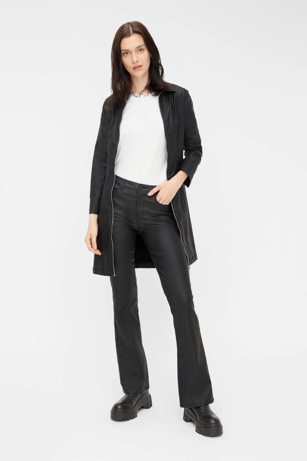 PIECES flared broek zwart, Zwart