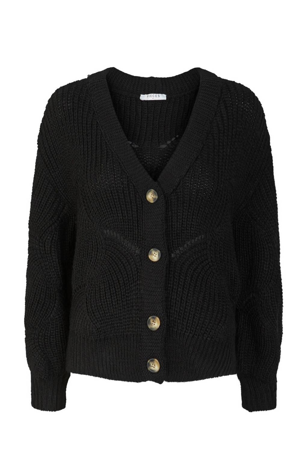 PIECES vest zwart, Zwart