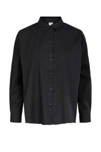 PIECES blouse zwart, Zwart