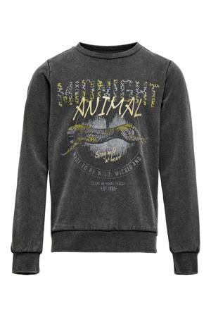 sweater Lucinda met printopdruk zwart