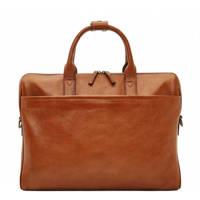 Castelijn & Beerens  15.6 inch leren laptoptas Verona cognac, Cognac