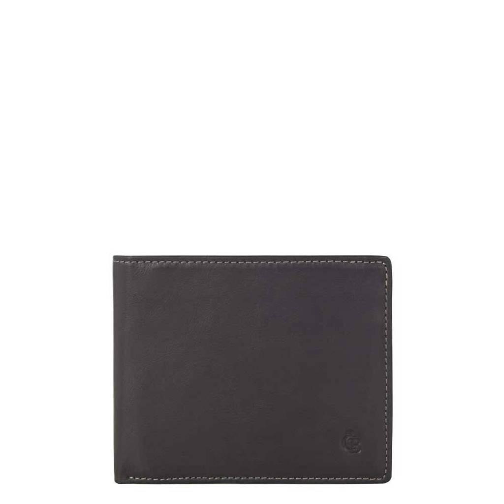Castelijn & Beerens Canyon Billfold heren portemonnee zwart, Zwart