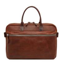 Castelijn & Beerens  15,6 inch leren business tas Renee Rein cognac, Cognac
