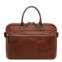 Castelijn & Beerens  15.6 inch leren laptoptas Renee Rein cognac, Cognac