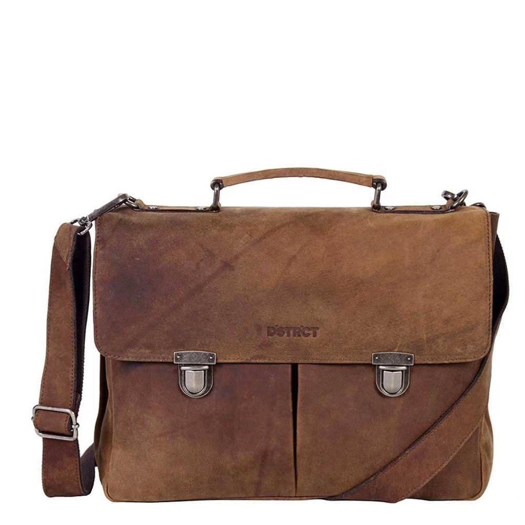 DSTRCT  15 inch laptoptas Wall Street bruin, Bruin