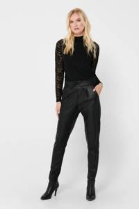ONLY slim fit broek zwart, Zwart