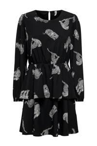 ONLY blousejurk met all over print zwart, Zwart