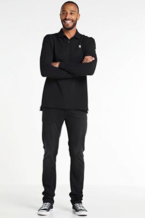 regular fit polo Dunda met biologisch katoen zwart