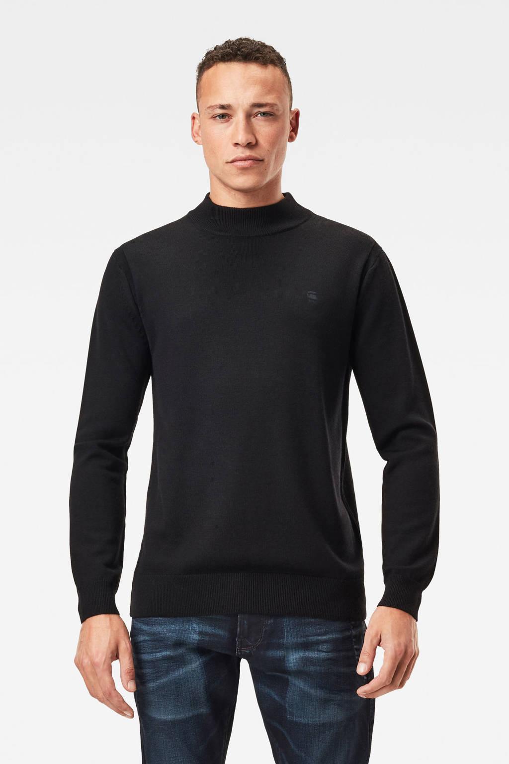 G-Star RAW wollen trui zwart, Zwart