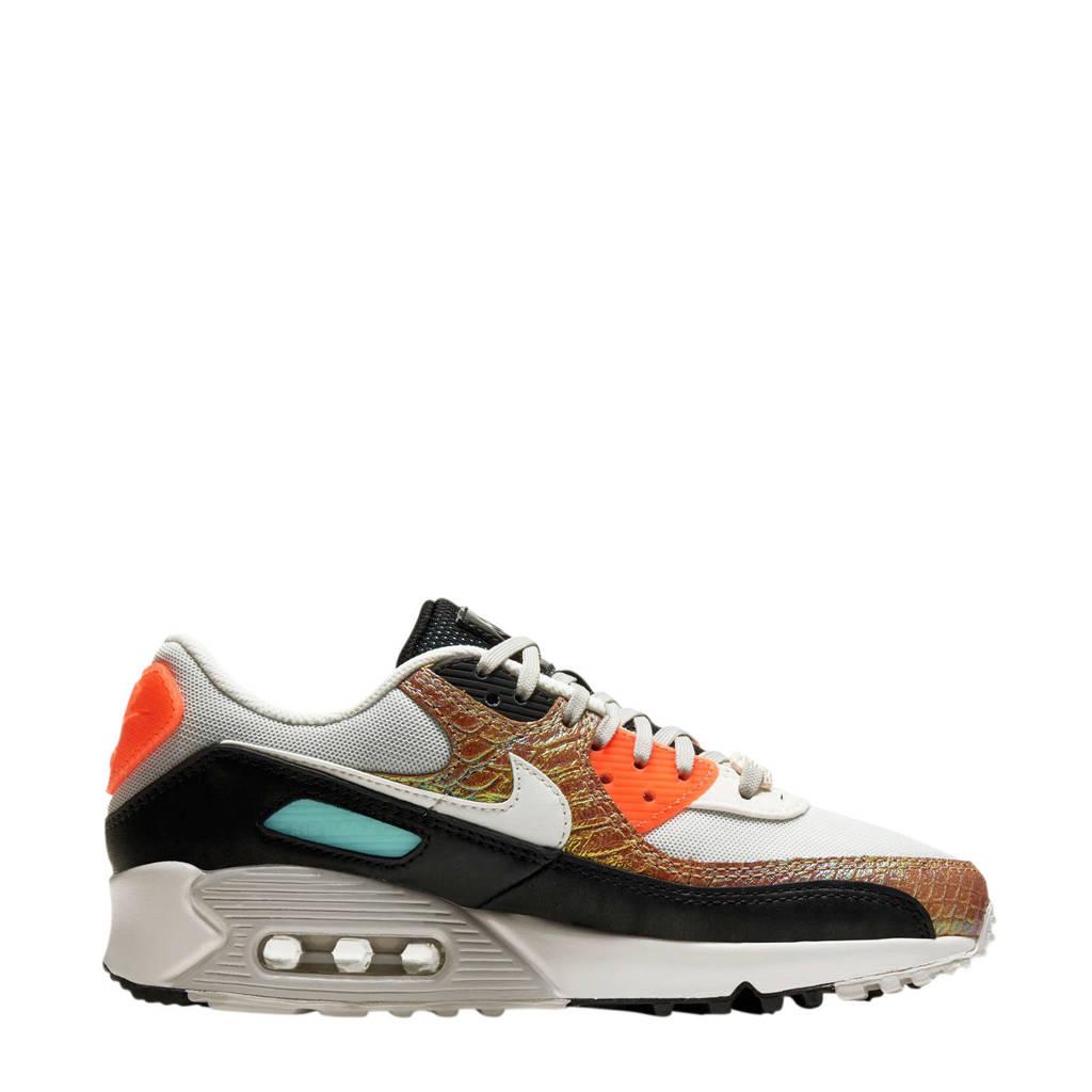 Nike Air Max 90 sneakers lichtbruin/grijs/oranje