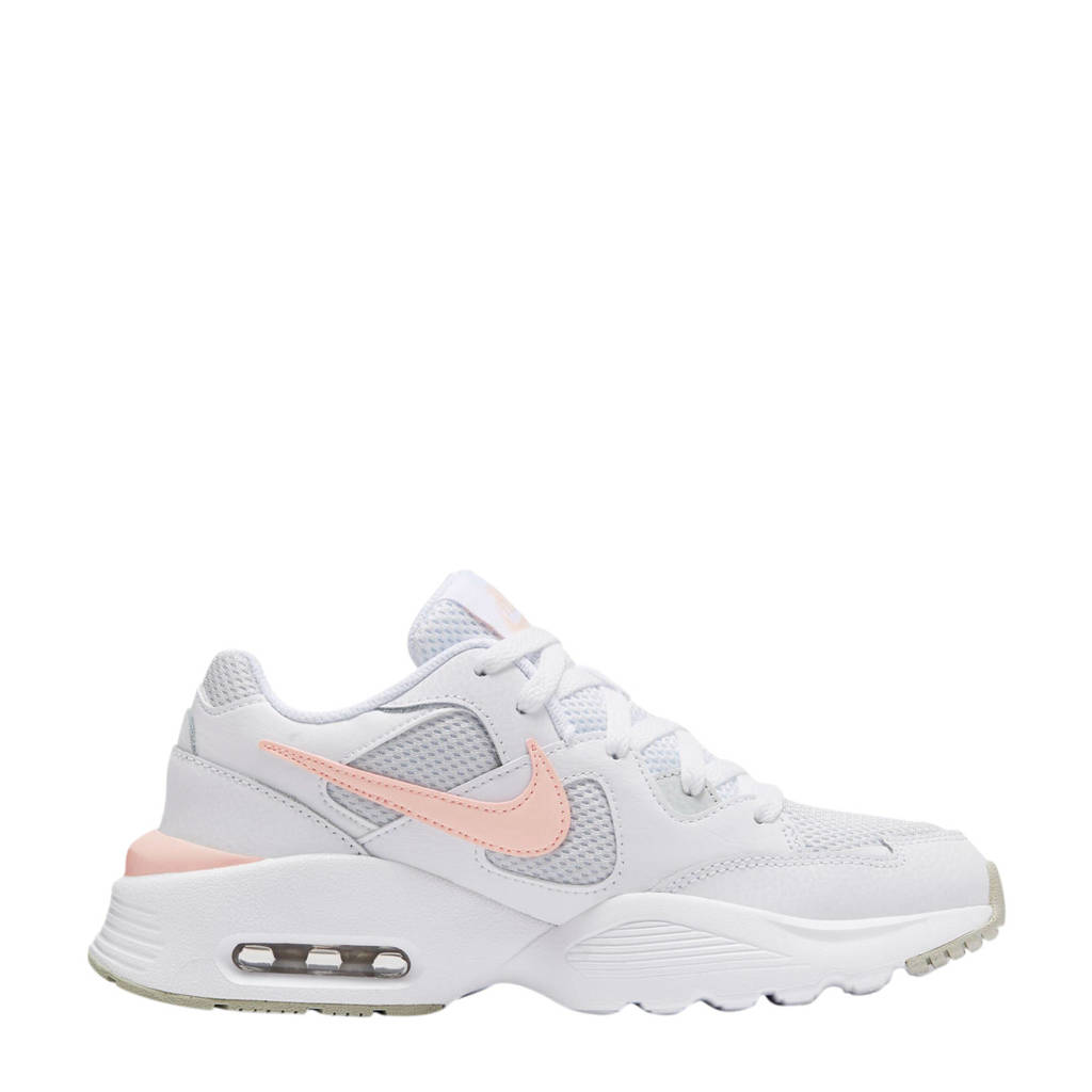 Nike Air Max Fusion sneakers wit/licht abrikoos/lichtgrijs