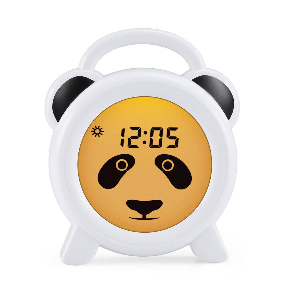 Alecto BC-100 Panda slaaptrainer, nachtlampje en wekker, Wit Panda