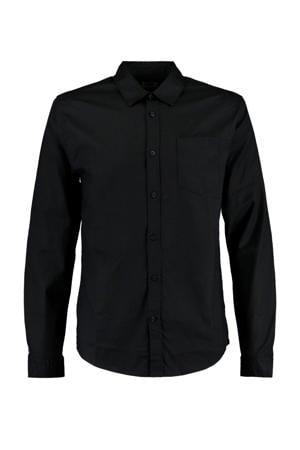 regular fit overhemd Hayes donkerblauw