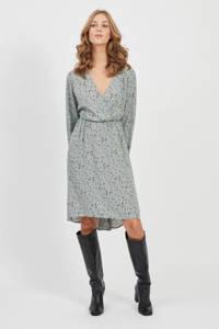 VILA blousejurk met all over print lichtgroen, Lichtgroen