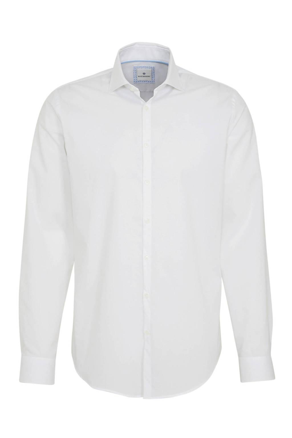 Blue Industry slim fit overhemd wit, Wit