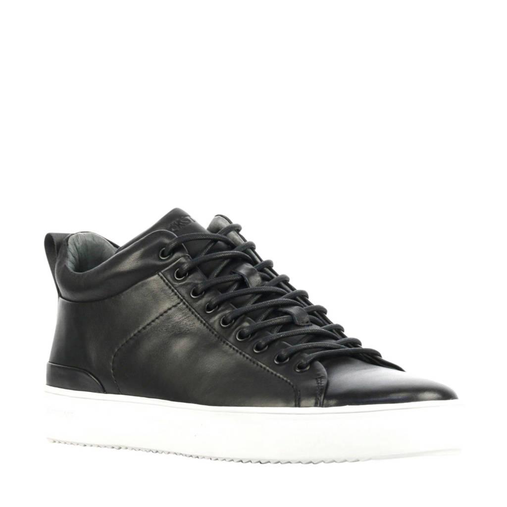 Blackstone SG29  leren sneakers zwart, Zwart