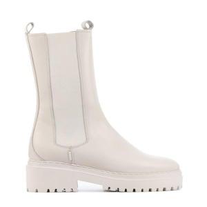 Fae Adams  hoge leren chelsea boots off white