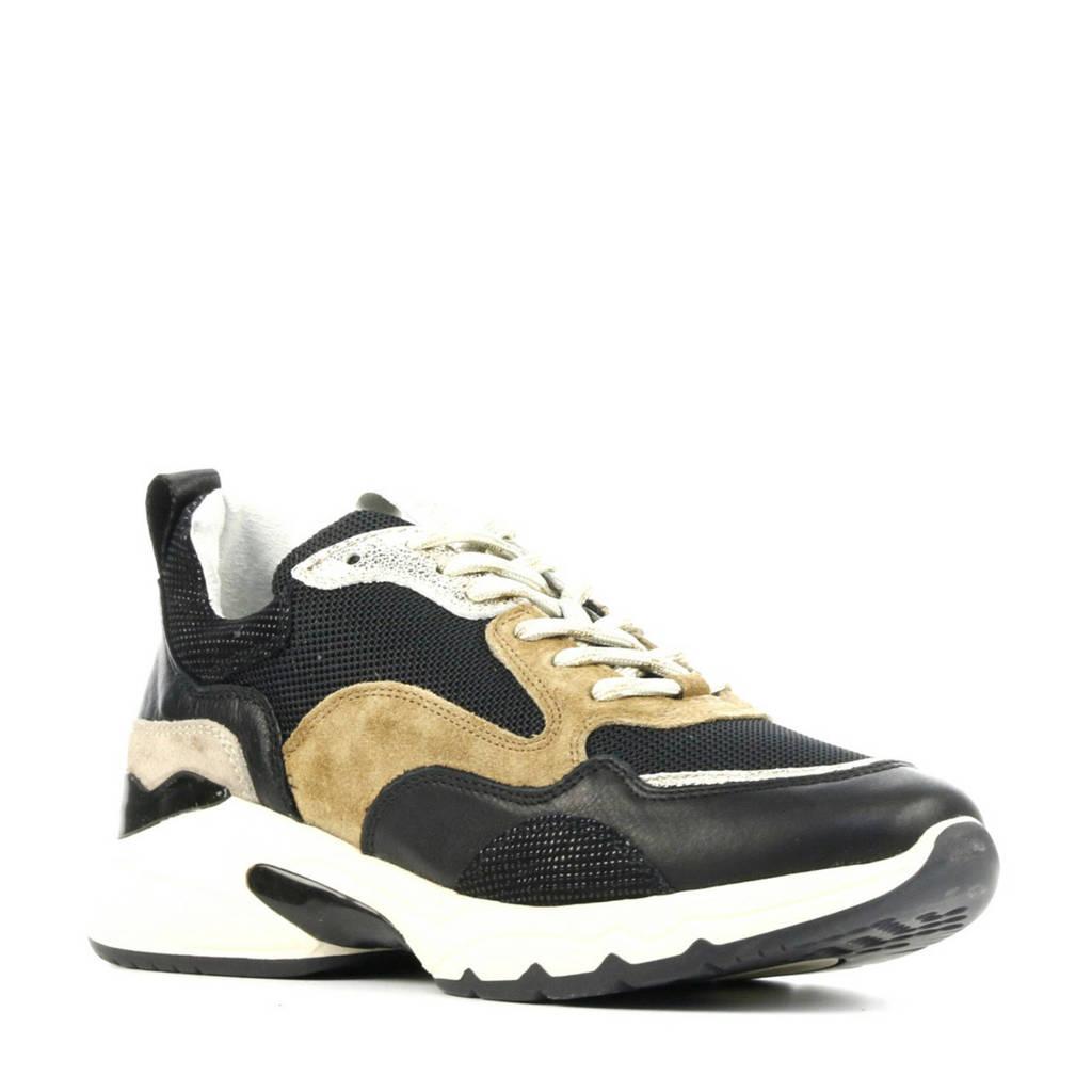 Via Vai 5408055  leren sneakers zwart/multi, Zwart/multi
